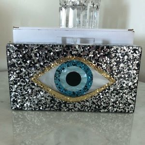 Acrylic eye clutch purse  New! Stunning